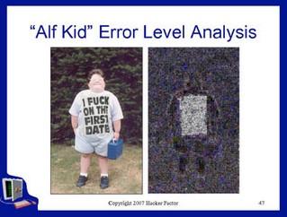 Alfkinderrorlevelanalysis