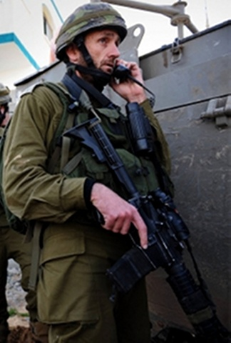 Paratrooper Brigade commander_ Hartzi Halevi_ during an IDF operation in Gaza_