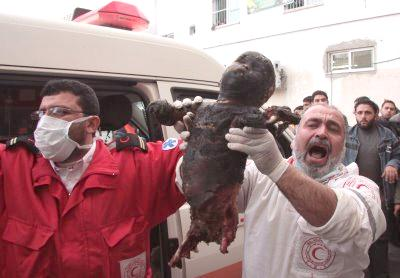 Weißem Phosphor Waffen wird durch terroristische Israel gegen unschuldige Kinder im Gaza-Streifen!